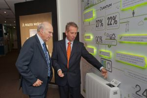 images_Vince Cable with Stuart Mackenzie, managing director of Dimplex, and the Dimplex Quantum space heater