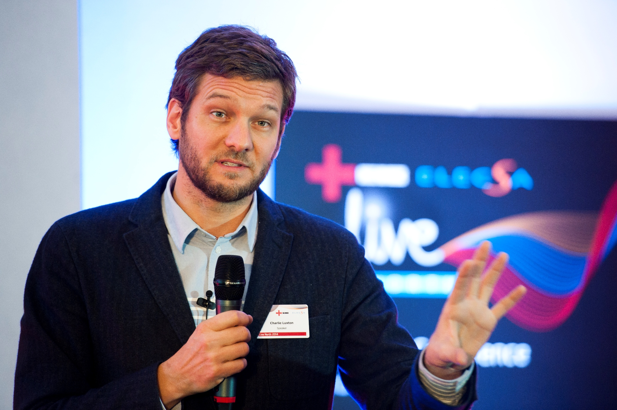 Tv presenter charlie luxton heads line up at live south - Charlie luxton ...