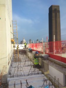 The constricted site conditions meant that a maximum of just four REL installers worked on the job at any one time
