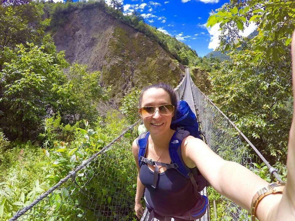 Tessa en route to Mount Everest
