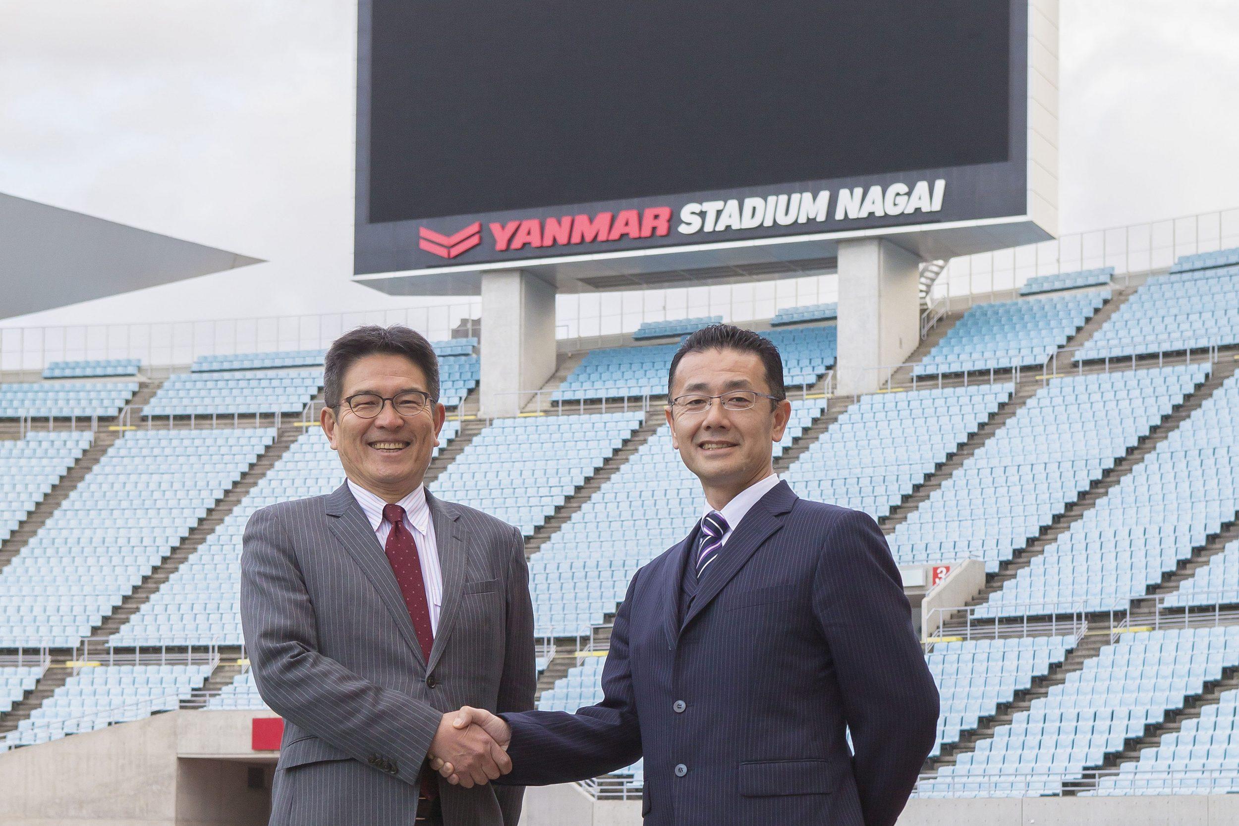 M. Tamada and K. Hayashida of Osaka FC