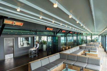 Tansun has helped provide extra heating comfort for diners on a rooftop terrace at the Marco Pierre White Steakhouse Bar & Grill at the top of The Cube, an iconic new landmark in Birmingham.