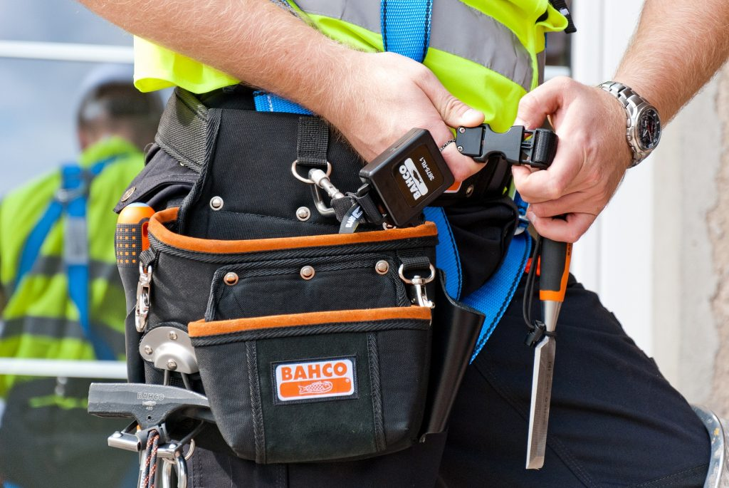 Bahco toolbags are ideal for use when working at height.
