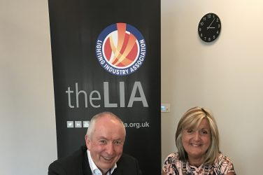 LIA's commercial manager Julie Humpreys and LAI chairman Gay Byrne at the LIA Telford