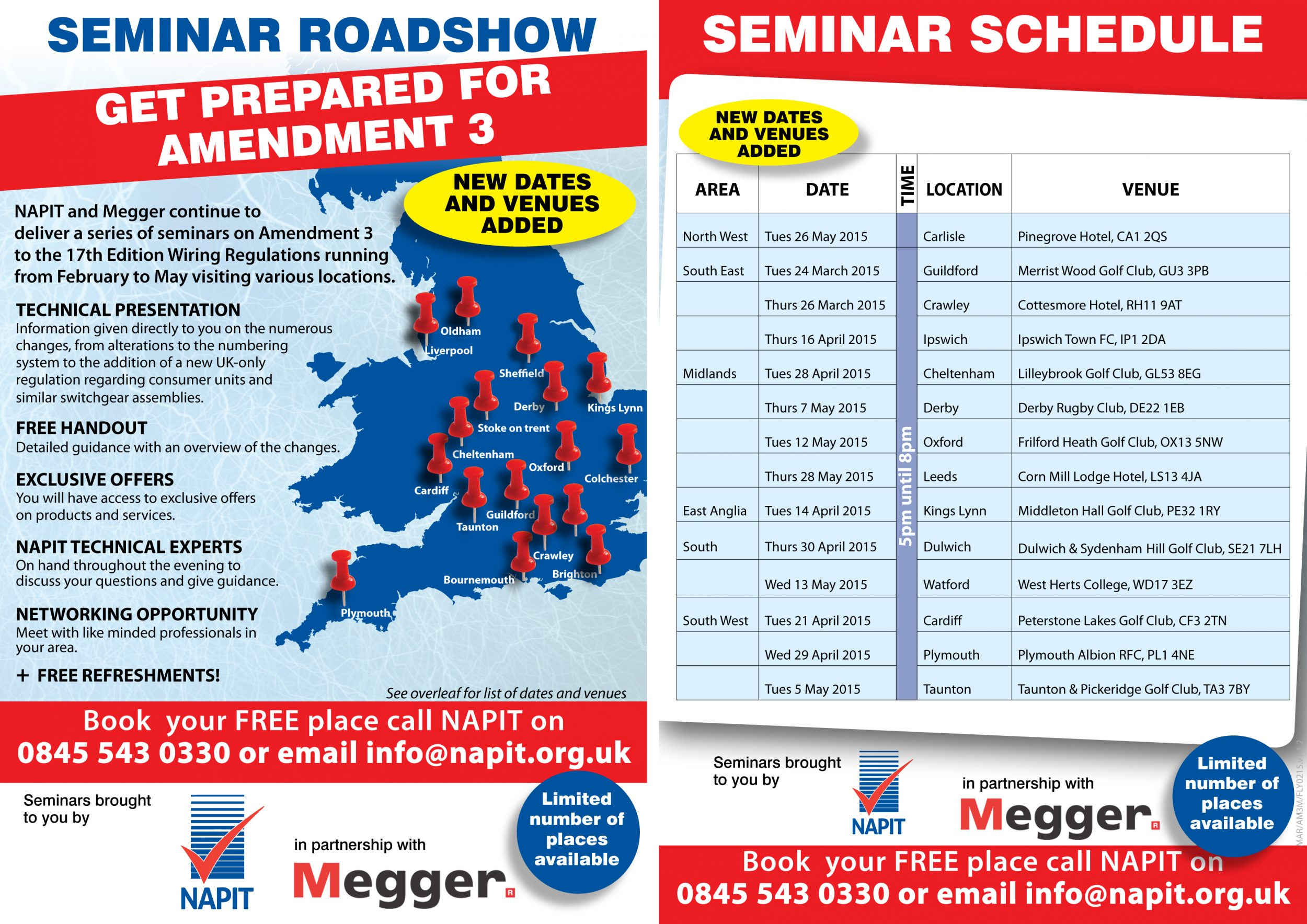 May Dates Complete Amendment 3 Seminar Line Up Electrical Bs7671 Wiring Regulations We Feel It Is Vital That Installers Are Updated With To The Iet As Core Document For